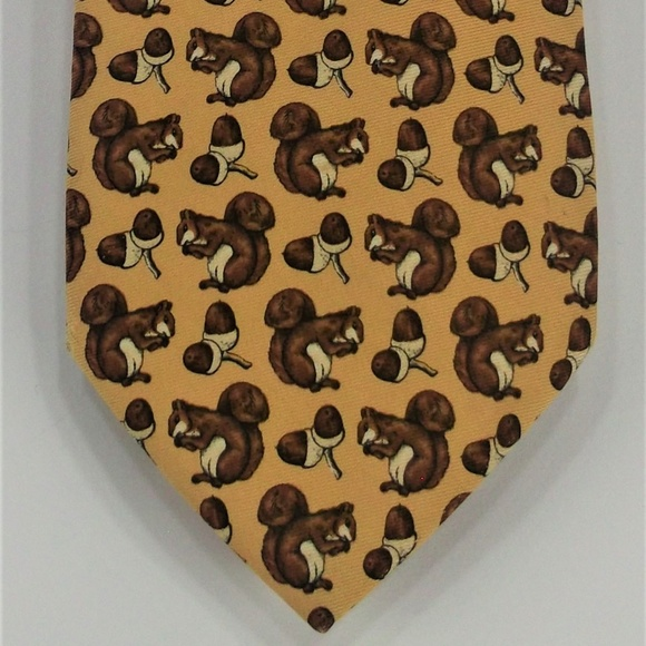 Brooks Brothers Other - Brooks Brothers Yellow Squirrel Acorn Silk Tie